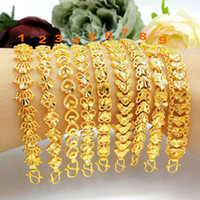 Wholesale 24k gold chain bracelet for sale - Sha gold imitates a variety of brass plated k gold love lady bracelet fashion jewelry