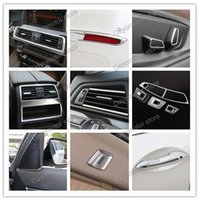 Wholesale Vented Door - Car Styling ABS Air Condition Vent and Door Handle Cover Decoration Trim Accessories For BMW 5 Series chrome Stick