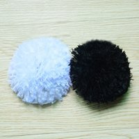 Wholesale Gauze Hair Flower - Artificial pom pom flowers baby headband chiffon fabric flower - Feather Hat Wedding Ribbon applique - Gauze lace Feather Hair Flower