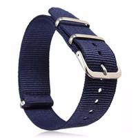 Wholesale blue nato strap for sale - Group buy 1pcs mm Thin Ballistic Military Nylon Watchband Durable Canvas Sports Zulu Nato Wrist Watch Band G10 Strap