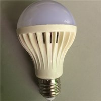 Wholesale Emergency Led E27 - LED Energy Saving Light Bulbs Plastic Ball Voice Bulb Can Be Used For Corridor Induction Intelligent Emergency