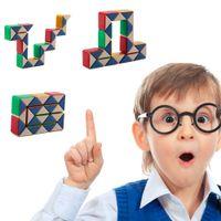 Wholesale Toys Change Shape - Magic Ruler Shape Changing Cube Puzzle Intelligence IQ Fashion Toy Gift Ruler Changing Cube Puzzle New Hot!