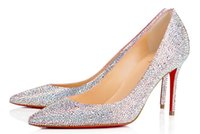 Women High Heel Fashion Wedding Party Shoes Sexy Peep Toe Pumps Brand New Design Single Shoes Sequins Decorados