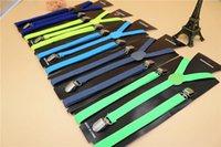 elastische verstellbare hosenträger großhandel-Heißer Verkaufs-neuer 600pcs / lot Klipp auf justierbaren Klammern Süßigkeit-Hosenträger Unisexhosen Y-zurück elastischer Suspender Braces geben Verschiffen frei