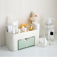 Wholesale Desktop Cosmetic Storage Box - Multi-function Drawer-type Transparent Plastic Cosmetics Storage Box Makeup Organizer Case Office Desktop Storage Bin Perfect Housekeeping