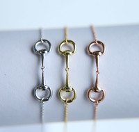 Wholesale chain links jewellery - 2017 New Arrived Charm Bracelets Round Real 925 Sterling Snaffle Bit Bracelet Horse Jewellery With Color Rose For Women Jewelry