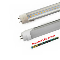 Wholesale T8 Led Driver - CE UL DLC High Bright Isolated Driver T8 LED Tube lights 4ft 22W 1200MM SMD 2835 Light Bulb Lamps AC 100-277V led lighting