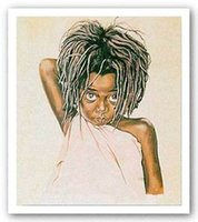Wholesale Painted Toms - Framed Pretty Eyes Tom McKinney,Pure Handpainted AFRICAN AMERICAN ART Oil Painting On High Quality Canvas.Multi Sizes Available,ebon