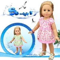 Wholesale Wholesale Doll Clothing American Girl - 18 inch American Girl Doll Clothes Fashion One piece Dress Doll Accessories Best Gift for Girls