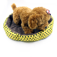 Wholesale Black Cat House - Wholesale cute Pet Products Soft Fleece Pet Bed for Cats Dogs camas para perros pequenos Small Animals Bed House Kennel