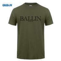 Wholesale Online Tees - BALLIN PARIS Printed T Shirts Online Cheap Tee Shirt Mans Short Sleeve Boyfriend's XXXL