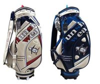 golf çantaları toptan satış-Erkekler golf çantası Kristal PU Deri golf arabası çantası munsing golf caddy çantası giymek