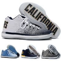 Wholesale Yellow Ge - 2017 New Arrival Retro XXXI Low CaliforniaMichigan Ge orge 31s Basketball Shoes for Top Quality Retro 31 Training Sports Sneakers Size 7-12