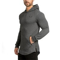 Wholesale Men Wholesale Fitted Coat - Wholesale- 2017 spring new Men Hoodies Brand Slim fit pullover coat Bodybuilding fitness jacket fashion Sweatshirts sportswear tops apparel