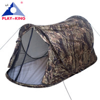 Wholesale Waterproof Pop Up Tents - Playking camouflage 3 color to choose 1-2 person pop up automatic waterproof camping tent