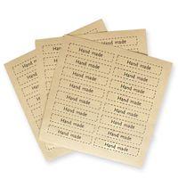 Wholesale Diy Vintage Labels - Wholesale-Handmade Sticker160 pcs 2*7 cm Vintage Stickers Kraft Label Sticker DIY Hand Made For Gift Cake Baking Sealing Sticker