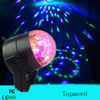 Mini RGB LED Crystal Magic Ball Eclairage de scène Eclairage Lamp Party Disco Club DJ Bar Light Show 100-240V US Plug