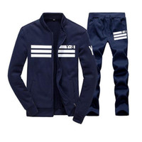 Wholesale Sweat Sport - Men Sportswear Hoodie And Sweatshirts Autumn Winter Jogger Sporting Suit Mens Sweat Suits Brand Tracksuits Set free shipping