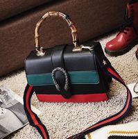 Wholesale Designer Leather Chain - designer handbags women handbag white charms fashion leather clutch designer stripped cross body