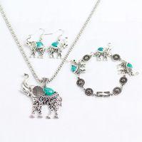 Wholesale China Wholesale Shipping Europe - Free Shipping - GIFT Europe Fashion Women Statement Elephant Pendant Necklace Earrings Bracelet Suit + Free Gift