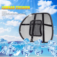 Wholesale office chair back pillow - Sale Office Chair Car seat Cover Sofa Cool Massage Cushion Lumbar Back Brace Pillow Lumbar Cushion New Car Back Seat