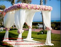 Wholesale Arch Stand - adjustable 3*3*3m square double tube crossbar of wedding piping frame , pipe and drape wedding arch, chuppah, backdrop stand