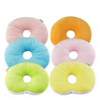 Wholesale Confortable Baby Pillow Anti migraine Pillow High Quality Solid Round Infant Head Protection Pad Cute Styles hot sale