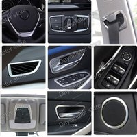 Wholesale Bmw Sills - Car Styling ABS Steering wheel Cover Decoration Trim Accessories For BMW 3 4 Series F30 F31 F32 F34 GT 320 328 chrome Stick