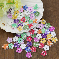Wholesale scrapbooking dots - New and hot 1000Pcs 15mm Lovely Wooden Buttons DIY Sewing Scrapbooking Flower Dots MixedTY2180