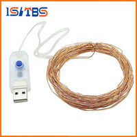 Wholesale Flexible Heart - USB copper 10 Meter Led string light 100led 8Modes DC5V safe flexible holiday lighting outdoor decoration christmas,wedding