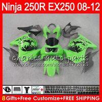 Wholesale Kawasaki Ninja White Red - 8Gifts 23Colors For KAWASAKI NINJA ZX250R 08 09 10 11 12 EX 250 16HM25 green black ZX-250R ZX 250R EX250 2008 2009 2010 2011 2012 Fairing