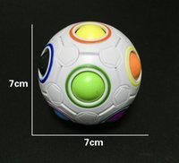 Wholesale Baby Skateboard - Spherical Cube Rainbow Ball Football Magic Speed Cube Puzzle Children's Educational Toys Cubes GMF for baby