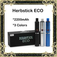 Wholesale Mini Battery E Cigarettes Kits - Herbstick ECO Kit E Cigarette Starter Kit Herbal Vaporizers Mini Vaporizer Pen 2200mah Battery Dual Coil Herb Vaporizer Huge Vape Mod Kit