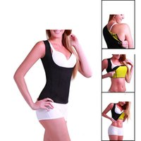 Wholesale Slim Belt For Weight Loss - Neoprene Sauna Waist Trainer Cincher Vest Hot Slimming Sweat Belt Fat Burning Body Shaper For Women Weight Loss