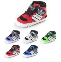 Wholesale Baby Prewalker Sports Shoes - Newborn high waist sports toddler shoes 2017 PU boy spring autumn casual baby shoes prewalker new style
