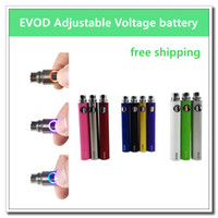 Wholesale Ego Kit Series - EVOD ecig adjustable voltage battery - 50PCs. 650mAh 900mAh 1100mAh ecig battery suit for all series ego kit ce4 ce5 mt3
