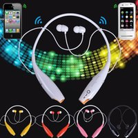 Wholesale Electronic Ear - 5 Colors Fashion Electronic Wireless Bluetooth Stereo Music Headset Earphones Universal Neckband for Cellphones Accessories 2928