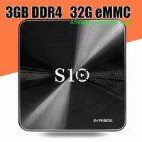 Wholesale Best Uk Wholesaler - Android TV box Rbox S10 BEST android 7.1 tv CPU Amlogic S912 17.3 media player RAM 3GB ROM 32GB DDR4 bluetooth 4.0 set top box