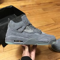 Wholesale Cool Shoes For Sale - Free Shipping Kaws x air retro 4 Black Suede & Cool Grey for Men kaws x retro 4s Basketball Shoes for sale size 8-13