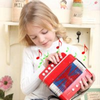 Wholesale Accordion Electronic - BOHS Music Instrument Accordion 7 Keys Button Piano Toys Great Gift Kids wholesale gift alarm