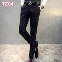84789e34ce2 Coffee Brown Wedding Men Suit Pants Fashion Slim Fit Casual Suit Pants Men  Formal Business Blazer Straight Dress Trousers