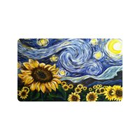 Wholesale European Floor Rugs - Vincent Van Gogh Painting Custom Doormat Entrance Mat Floor Mat Rug Indoor Outdoor Front Door Bathroom Mats Rubber Non Slip Size 30 x 18