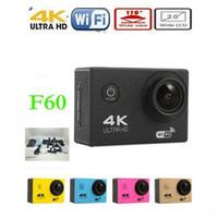 "Wholesale Sport Camera Hd Underwater - Extreme Sport DV Action Camera 4K F60 W9 2"" LCD 1080P wifi 170 ° wide angle lens Waterproof 30m mini DVR Underwater Full HD Sports DV JBD-N8"
