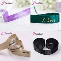 Wholesale Designed Satin Ribbons - Free design 6mm-75mm customized printed logo ribbon,gift packaging satin polyester decoration 100 yard  lot