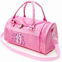 Wholesale Girls Pink Ballet Bag - Ballet Storage bag Pink girl design shoulder pouch Nice tote duffel Dance cross body satchels Sling handle case