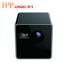 Wholesale Pocket Projector Battery - Wholesale- Original UNIC P1 DLP Projector 15 Ansi Lumen Mini Tiny Handheld Pocket Proyector Built-in Battery Home Cinema Theater Beamer