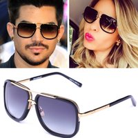 Wholesale Drive Plate - 2017new men brand designer sunglasses D T mach one titanium sunglasses gold plated vintage retro style square frame UV400 lens original case