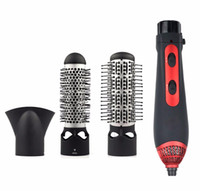 Wholesale Hot Air Comb - Wholesale- 3-in-1 Multifunctional Styling Tools Hairdryer Hair Curling Straightening Comb Brush Hair Dryer Professinal Salon 220V 1200W