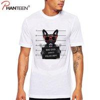Wholesale Cute Funny Dog Clothes - Wholesale- Phanteen French Bulldog Design Man T Shirts Bad Dog Print Cute T-shirts Casual Plus Size Funny Tees Fashion Men Brand Clothing