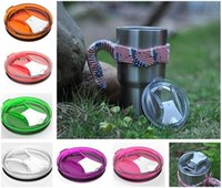 Wholesale Design For Plastic Cups - Cup Lids for Yeti RTIC OZARK Cup 30oz Leak Proof Hermetical Multi Color New Design Food-grade AS 180° foldable filp Yeti Lids c137